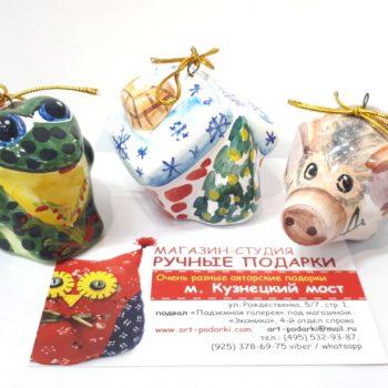 Керамические игрушки на елку