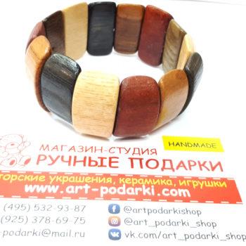 """Деревянный браслет """"Яркий"""", дерево1"""
