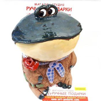 Лягушка керамическая копилка