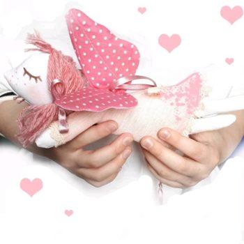 Ангел текстильный подвесной