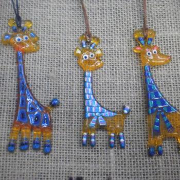 Кулон стекло жираф